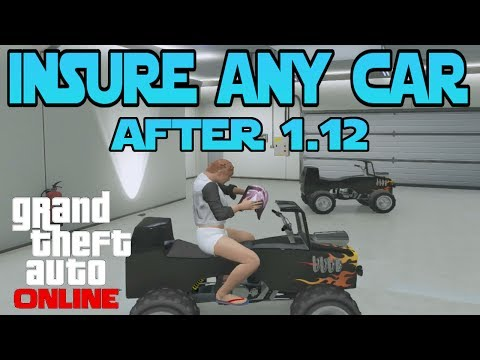 GTA 5 Online : How To Insure Any Car In Your Garage