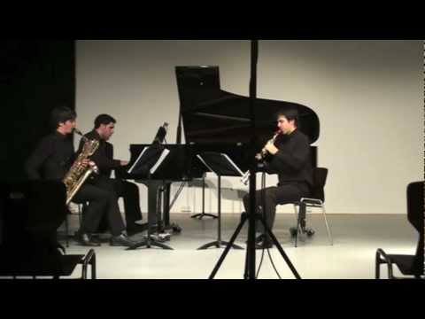 Trio by F. POULENC (two saxophones and piano)