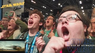 Star Wars Episode IX Teaser Live REACTION at The Star Wars Show Stage