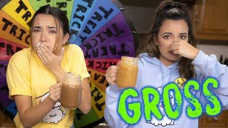 GROSS Trick or Treat Smoothie Challenge - Merrell Twins