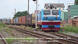 SHUNTING TRAINS   XEM TÀU HÀNG VÀO GA TRÁNH TÀU HÀNG RỜI GA (20/10/2019)