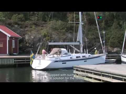 Side-Power retractable and variable speed thrusters in the new Hallberg Rassy 412.mp4