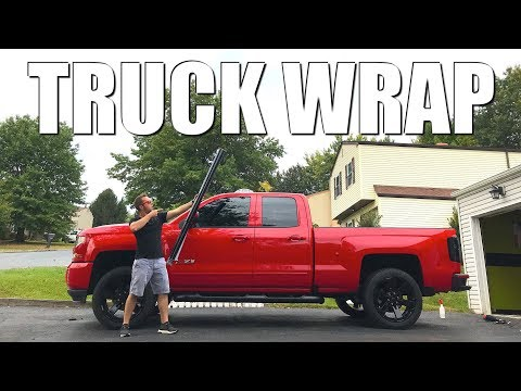 WRAPPING My 2017 Chevy Silverado TRUCK!!