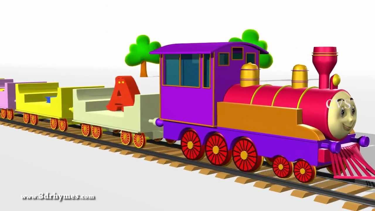 3D Animation Alphabet ABC Train