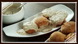 American Breakfast (Southern) - Biscuits/ Scones with Gravy