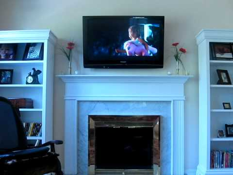 Plasma Tv Mounted Over Fireplace Youtube