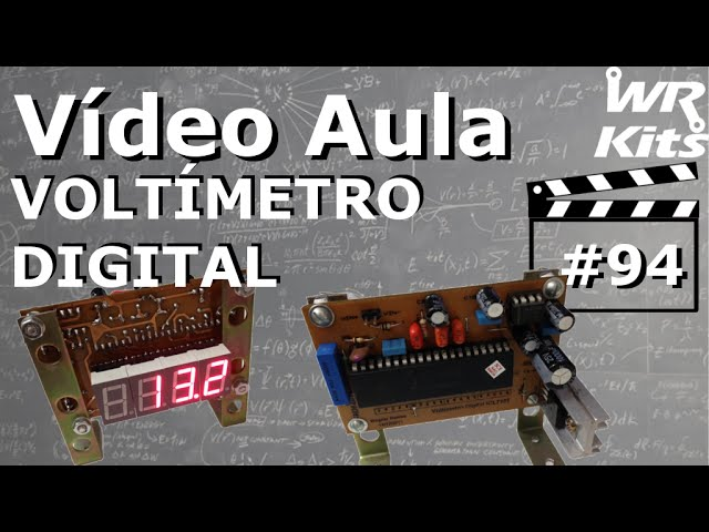 VOLTÍMETRO DIGITAL COM DISPLAY 7 SEGMENTOS | Vídeo Aula #94