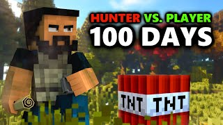 Hunter Vs. Player 100 Days Minecraft! (Man Tracker)