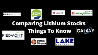 Comparing Lithium Stocks - Starting Points - Carbonate vs Hydroxide