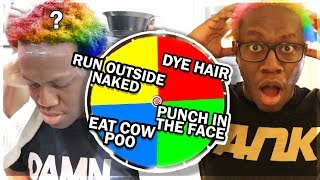 Spinning MYSTERY Wheel & DOING Whatever It Lands On - Challenge