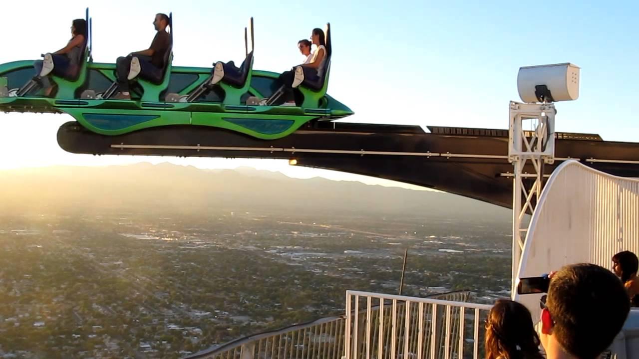 Scary Ride On Top Of Skyscraper Stratosphere Las Vegas
