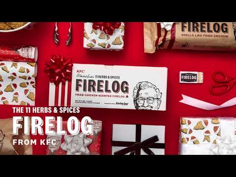 The sights, sounds, and smells of the holiday season are in the air – and that includes the mouthwatering, unmistakable scent of fried chicken coming from your fireplace! After selling out two years in a row, KFC's famous 11 Herbs & Spices Firelog from Enviro-Log® is back exclusively in select Walmart stores and on Walmart.com.