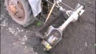 Самодельная почвофреза в работе_2