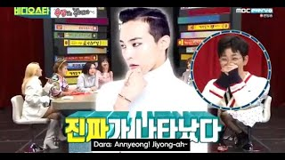 [ENGSUBS] Dara calls G-Dragon to grant Dindin's wish