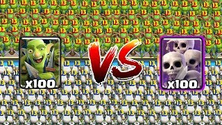 [MAX] GOBLIN GANG VS SKELETON ARMY | Clash Royale Super Challenge #2