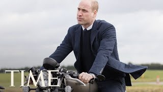 Prince William Poses On A Motorcycle During Royal Visit To Triumph Factory | TIME