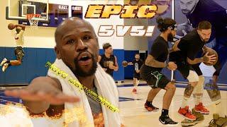 Epic 5v5!  Floyd Mayweather Pulls Up! (INSANE)