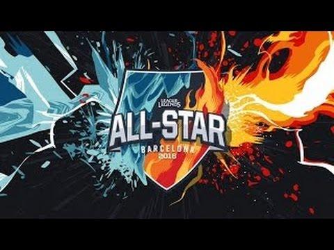 Việt Nam vs Trung Quốc| EU vs NA | Fire vs ICE | All-Star Barcelona 2016 |  LMHT ...