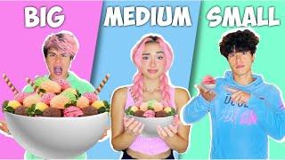 Big VS Medium VS Small Food Challenge!!!