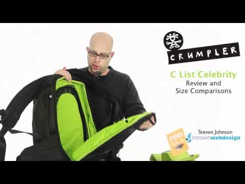 Crumpler C List Celebrity Backpack Review & Size Comparison