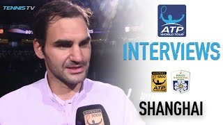 Federer Reacts After Capturing Second Shanghai Title