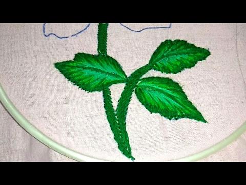 Fly Stitch Leaf Closed Hand Embroidery Tutorial By Nagu S Handwork