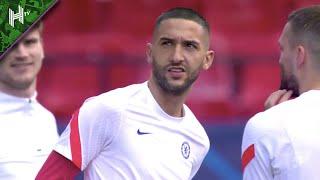 Hakim Ziyech all smiles as Chelsea train in Seville | Chelsea v Porto | Champions League