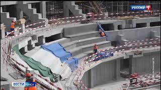 На новой «Арене Омск» скоро начнут монтировать конструкцию кровли