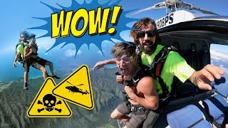 Skydived Out Of A HELICOPTER! (The Only Place In America)