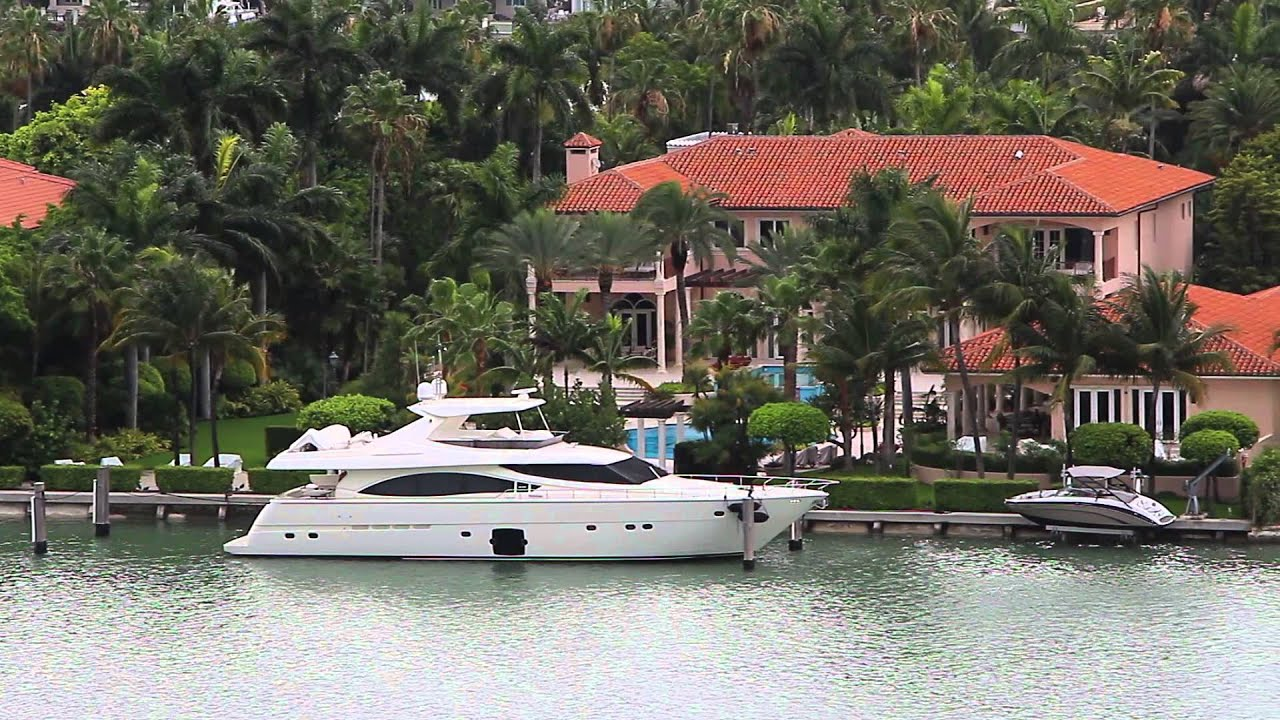 miami mansions of the rich and famous on palm island - youtube