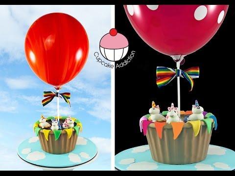 Make A Hot Air Balloon Cake Giant Cupcake A Cupcake