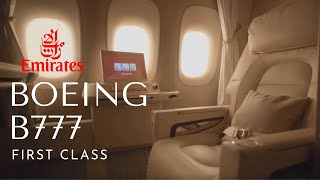 Emirates First Class on Boeing 777