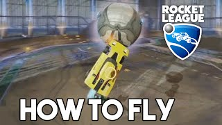 Rocket League - How to Fly - Aerial Goal Tutorial (Sky High Trophy)