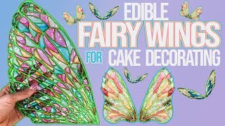 Edible Fairy Wings for Cake Decorating