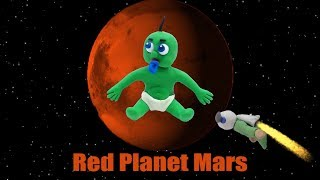 Red & Green Superhero Baby -in- GO TO MARS - Play Doh Kids Stop Motion Animation