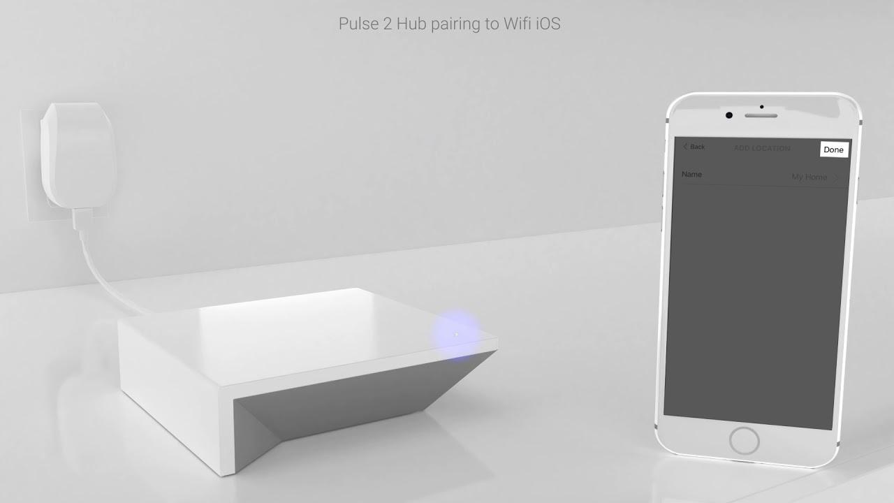 Pulse 2 Hub wi-fi pairing iOS