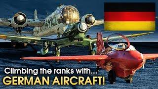 Climbing the ranks with... German aircraft / War Thunder