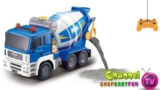 Xe ô tô trộn bê tông điều khiển từ xa   Concrete mixer trucks remote control [dochoihanquoc.vn]