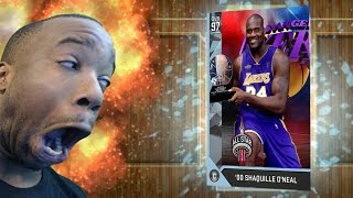 KID PASSED OUT PULLING DIAMOND SHAQ! NBA 2k16 MyTeam Top 5 Pack Opening Reactions