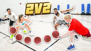 Me & Flight vs TJass & Jenna Bandy 2v2 Basketball!