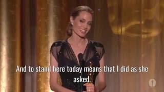 Angelina Jolie speaks about refugee women (Inspirational Speech)