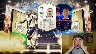 96 RONALDO PRIME ICON + CRISTIANO RONALDO IN A PACK !!! TOP 5 BEST PACK OPENING! FIFA 19 ITA #111