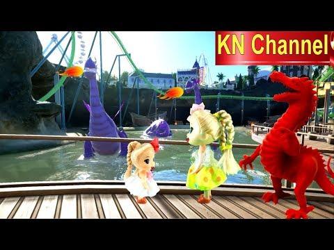 Đồ chơi trẻ em BÚP BÊ KN Channel VÀ CON TEM CỔ KỲ DIỆU tập cuối | GẶP RỒNG LỬA TRONG CÔNG VIÊN