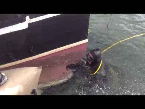 Big Bear Pirate Ship with scuba diver