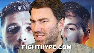 """EDDIE HEARN DISSES """"POOR"""" SPENCE VS. GARCIA PROMOTION BY TGB; CLAIMS PPV NUMBERS LOWER THAN REPORTS"""