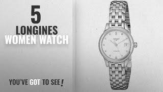 Top 10 Longines Women Watch [2018]: Longines Women's LNG42744276 Flagship White Dial Watch