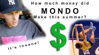 How much money did Mondo make in 2018? 18 years old | Team Hoot Pole Vault