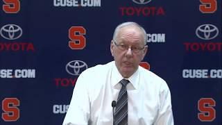 Jim Boeheim vs. Pittsburgh Post Game