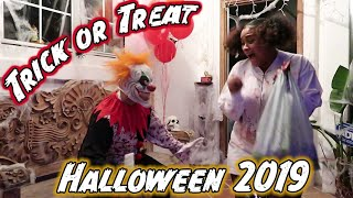 Scaring Trick or Treaters on Halloween 2019