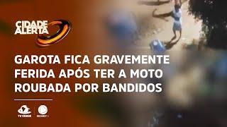 No Cariri: Garota fica gravemente ferida após ter a moto roubada por bandidos